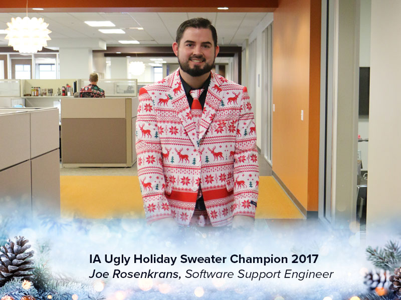 IA Ugly Holiday Sweater / Suit Winner - Joe Rosenkrans