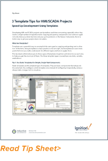 Tip Sheet: 3 Template Tips for HMI/SCADA Projects