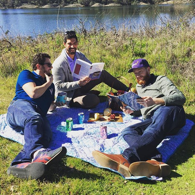 Dominic (IT), Yousuf (Software Engineering) and Ethan (Design Services) enjoying a casual lunch in our new backyard on #LakeNatoma. #MadeAtInductive #inductiveautomation #picnic #charcuterie #worklunch #lovewhereyouwork